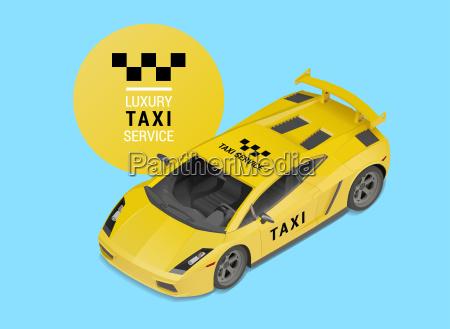 taxa bil luksus service vektor