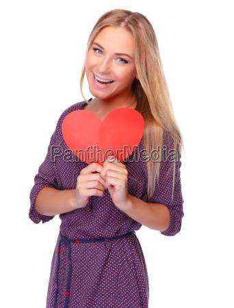 happy girl on valentine day