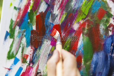 painting with acrylic paints