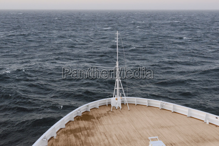 ship sailing in open sea at