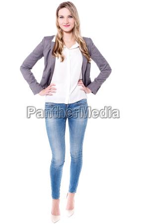 full length image of beautiful woman