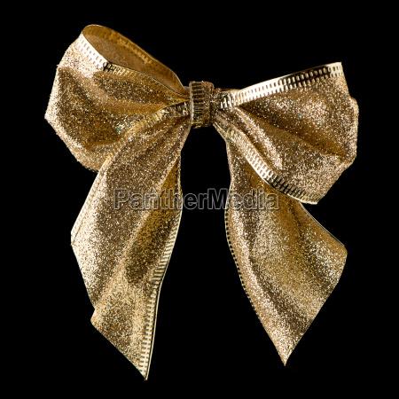 gold ribbon gift bow