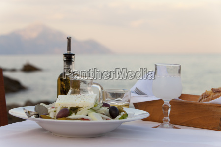 greek salad in the summer