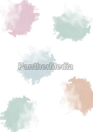 watercolor blobs pastel