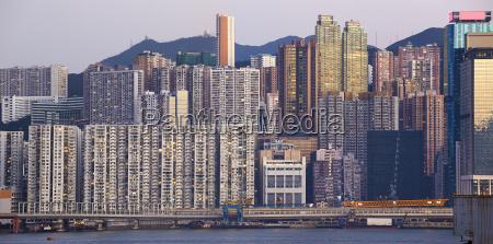 beautiful hongkong cityscape