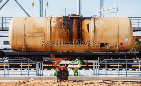 railroad train of black tanker cars
