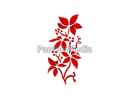 flower silhouette tear tattoo isolated