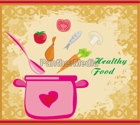 banner healthy food