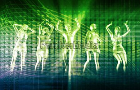 ladies going clubbing