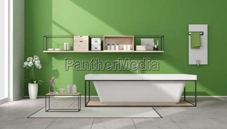 minimalist green bathroom