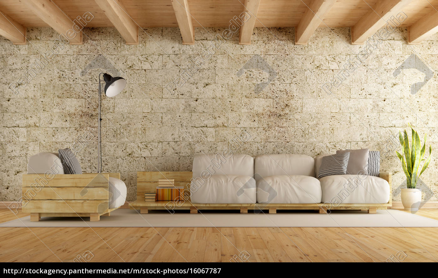 Modern Living Room Wth Pallet Sofa Royalty Free Image 16067787 Panthermedia Stock Agency