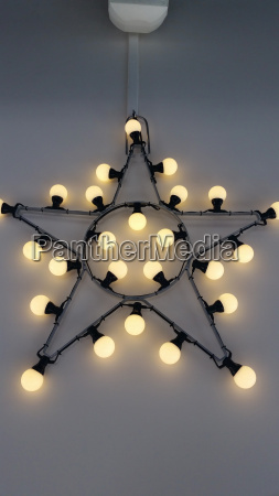wall star with lights