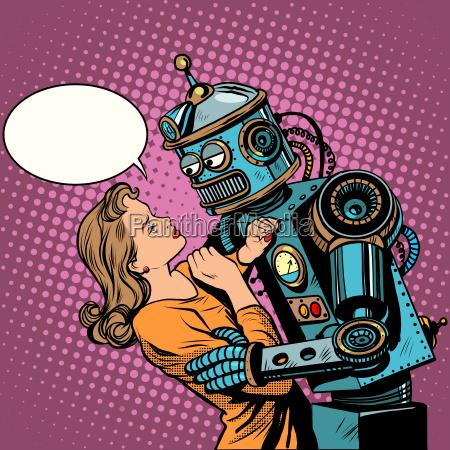 robot woman love computer technology
