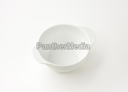 white soup bowl