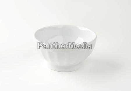 deep porcelain white bowl