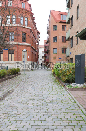 one old street in gothenburg with
