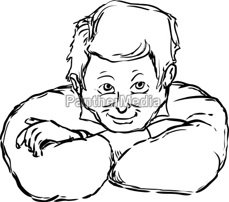 outline of man with grin and