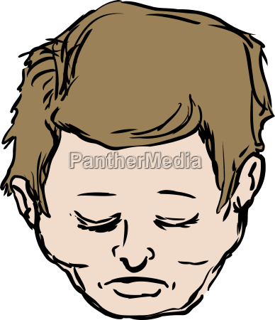 isolated head of middle aged male