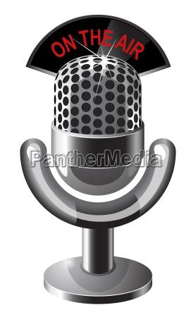 retro steel microphone