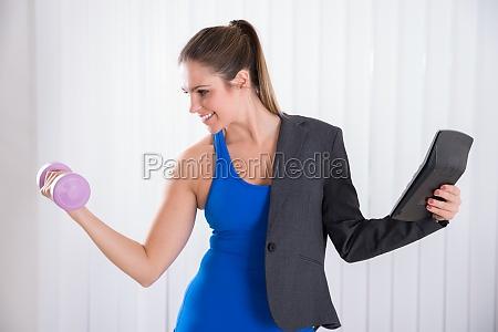 woman doing multiple work