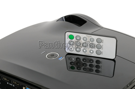 stylish black home cinema projector with