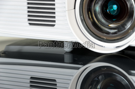 white home cinema projector mirroring on