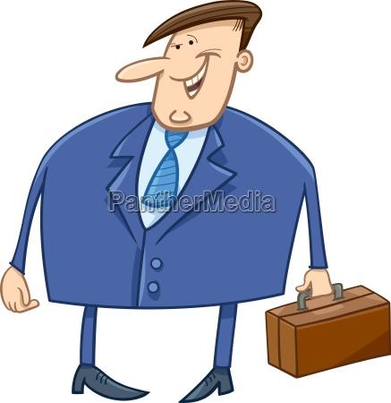 businessman with briefcase cartoon
