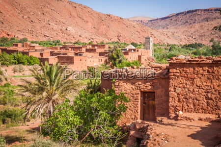 village in the ouarzazate morocco africa