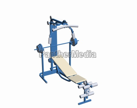 sports studio with weight bench exempted