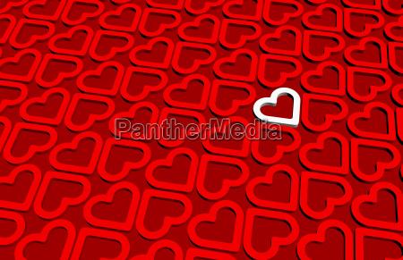 a white 3d heart inside 3d