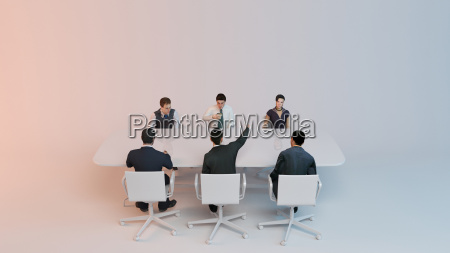 3d people human character meeting