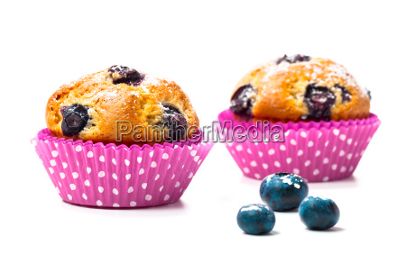 blueberry muffins with berries