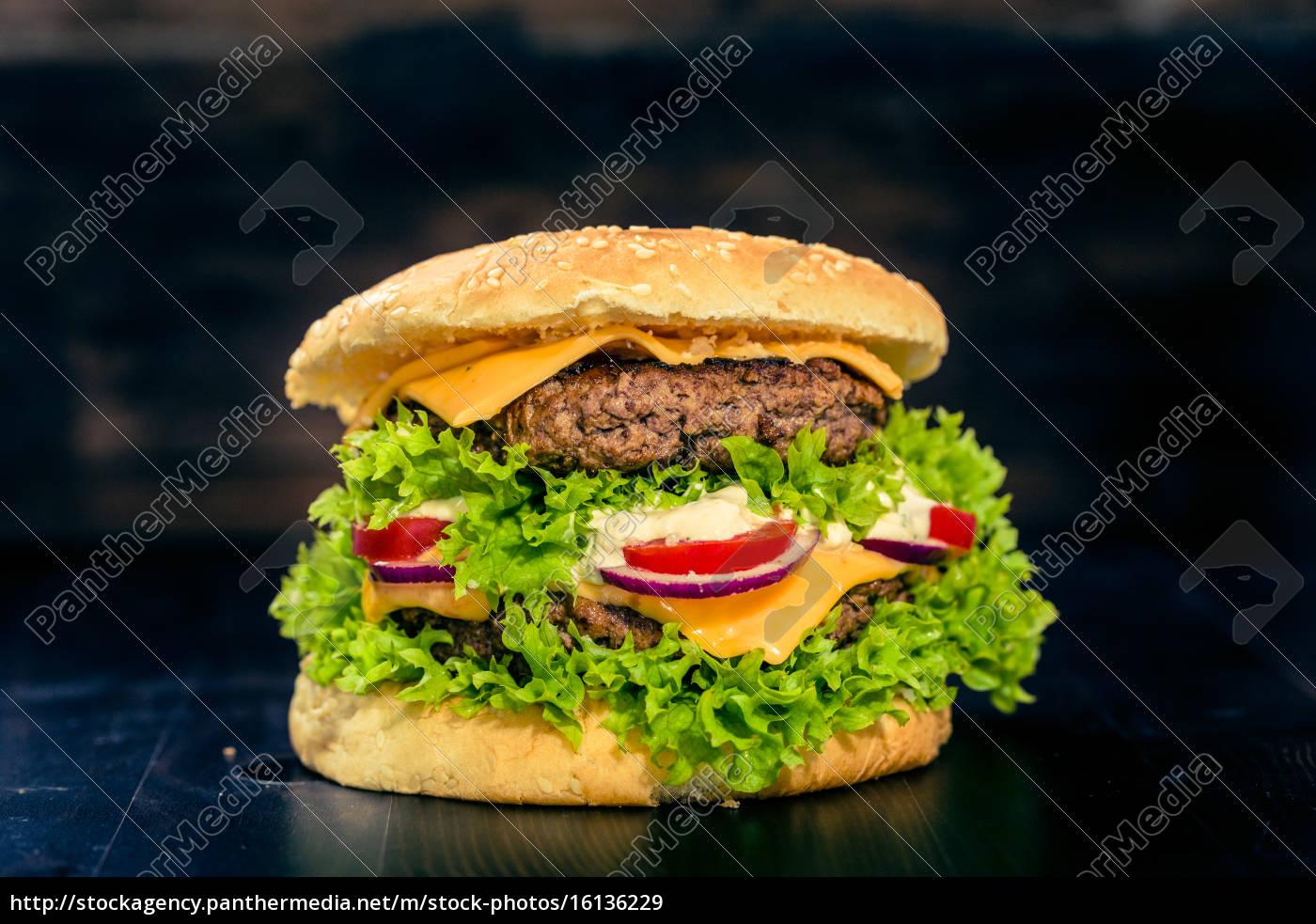 Delikater Burger Royalty Free Image 16136229 Panthermedia