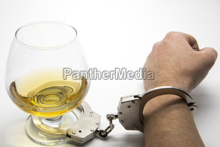 alcohol and handcuffs