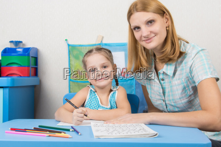 tutor and five year old girl