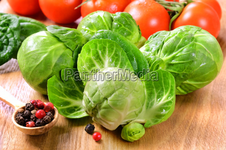 brussels sprouts with tomatoes and peppers