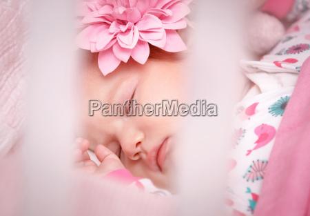 cute little baby sleep