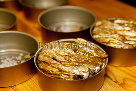 smoked sprats in a tin