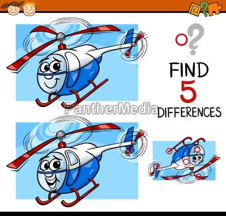 differences task cartoon illustration