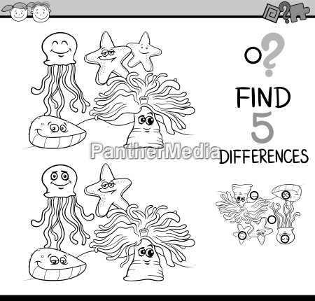 game of differences coloring book