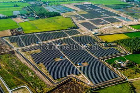 solar farm solar panels from the