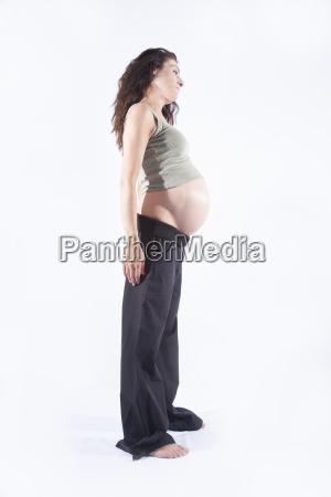 pregnant woman side