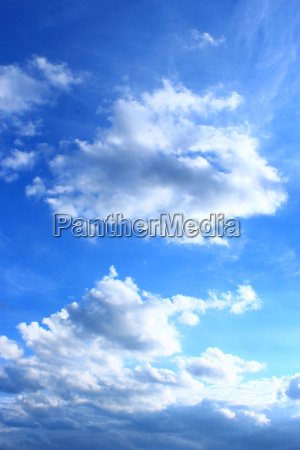picturesque white clouds on blue sky