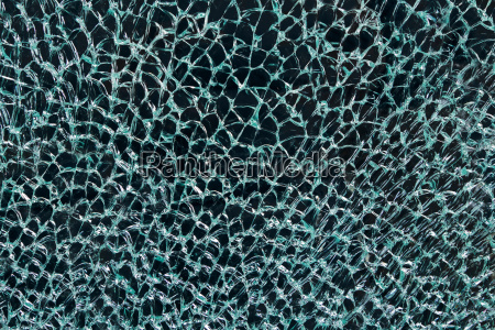 abstract pattern of cracked turquoise safety