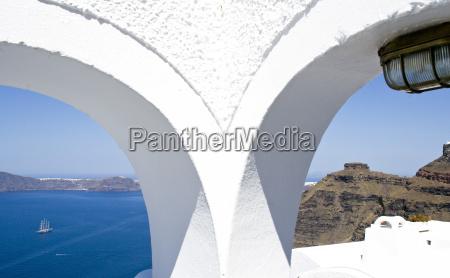 beautiful scenic island of santorini greece