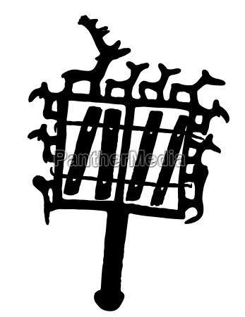 a ruin symbol from anatolia silhouette
