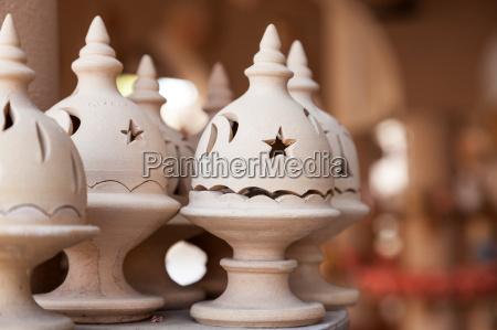 adobe incense burner in nizwa souk