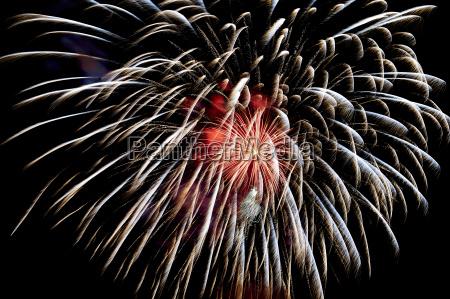 fireworks close up