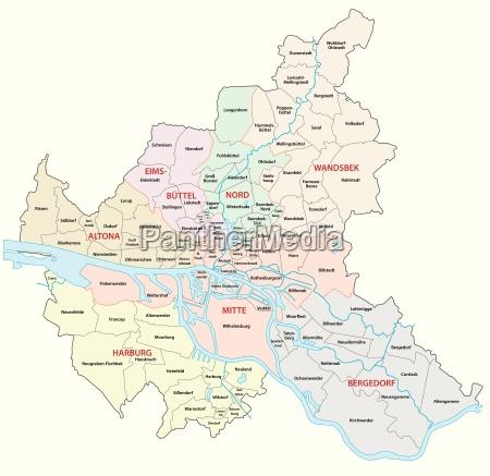 hamburg administrative map