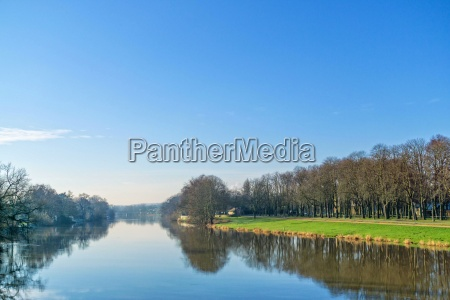 the river fulda in kassel on